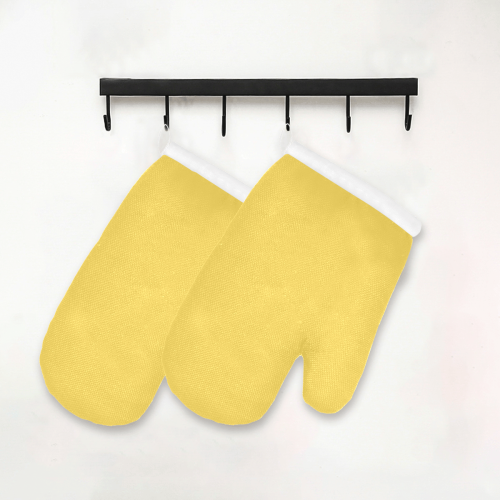 color mustard Oven Mitt (Two Pieces)