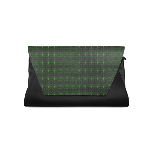 Green Glass Kaleidoscope Clutch Bag (Model 1630)
