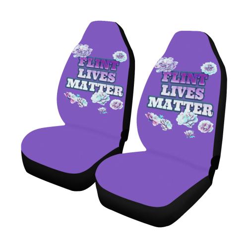Purple Flint Lives Matter Car Seat Covers (Set of 2)
