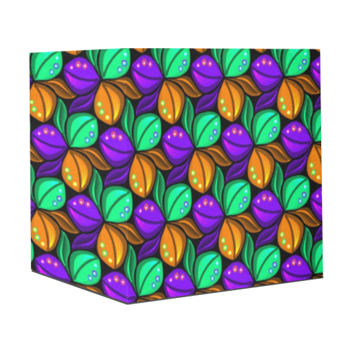 "Tricolor Floral Pattern Orange Green and Violet Gift Wrapping Paper 58""x 23"" (1 Roll)"