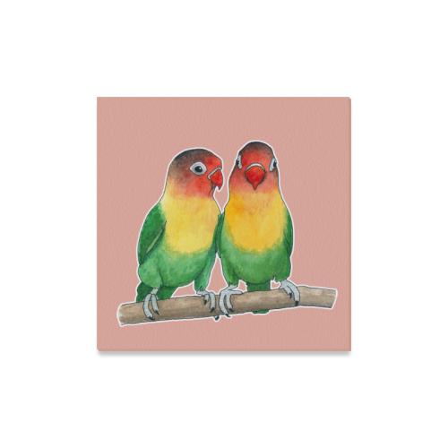 """Fischer's lovebirds Canvas Print 16""""x16"""""""