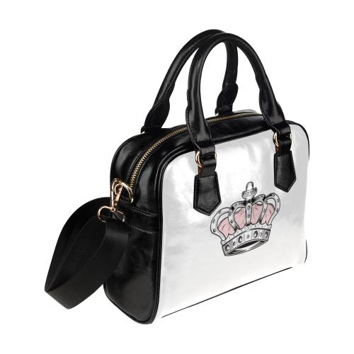 Pink Crown Shoulder Handbag (Model 1634)