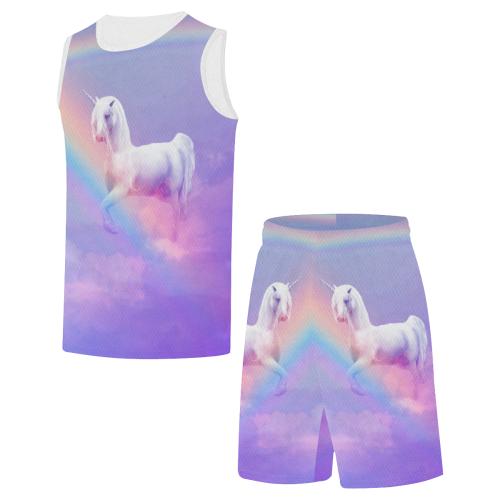 Unicorn and Rainbow All Over Print Basketball Uniform