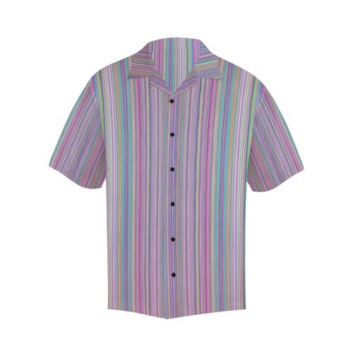 Broken TV screen rainbow stripe black buttons Hawaiian Shirt (Model T58)