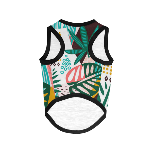 Abstract Leaves All Over Print Pet Tank Top