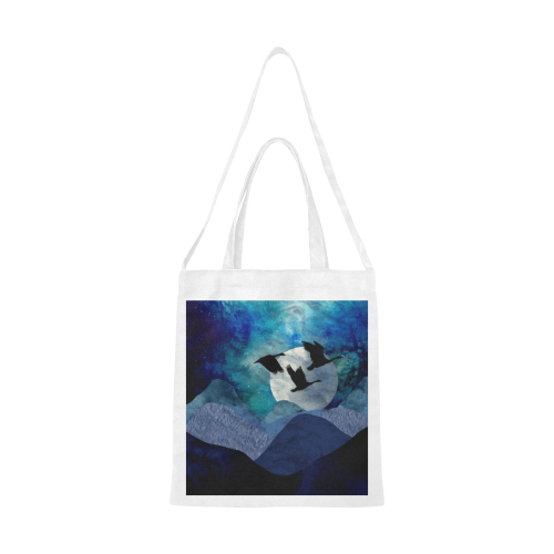 Night In The Mountains Canvas Tote Bag/Medium (Model 1701)
