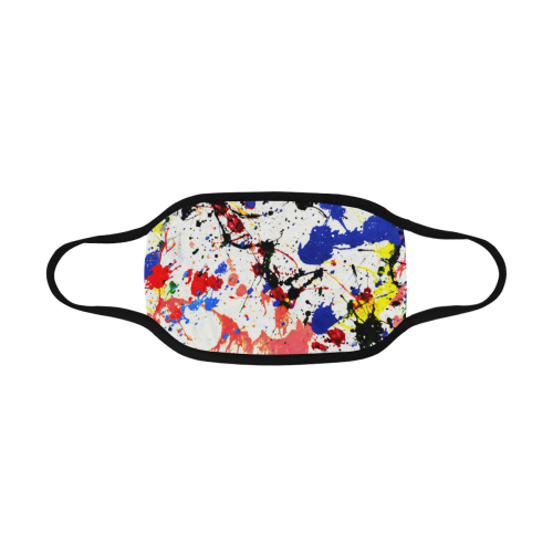 Blue and Red Paint Splatter Mouth Mask