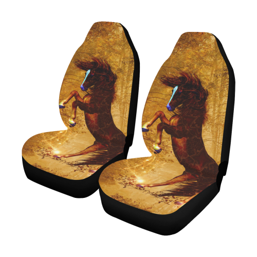 Awesome horse, vintage background Car Seat Covers (Set of 2)