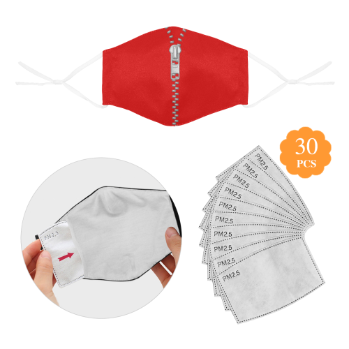 ZIPPER ONE 3D Mouth Mask with Drawstring (30 Filters Included) (Model M04) (Non-medical Products)