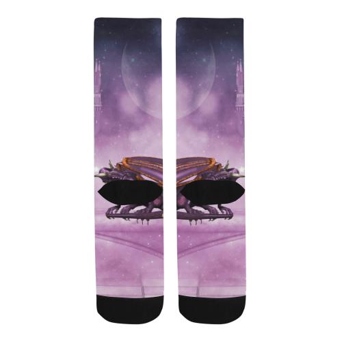 Wonderful violet dragon Trouser Socks (For Men)