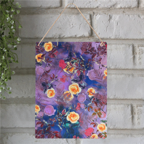 "flowers #flowers #pattern Metal Tin Sign 12""x16"""