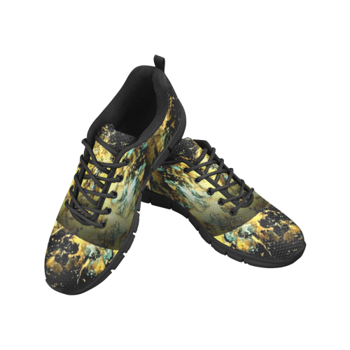 Gold And Blue Magic Dream Women's Breathable Running Shoes/Large (Model 055)