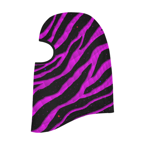 Ripped SpaceTime Stripes - Pink All Over Print Balaclava