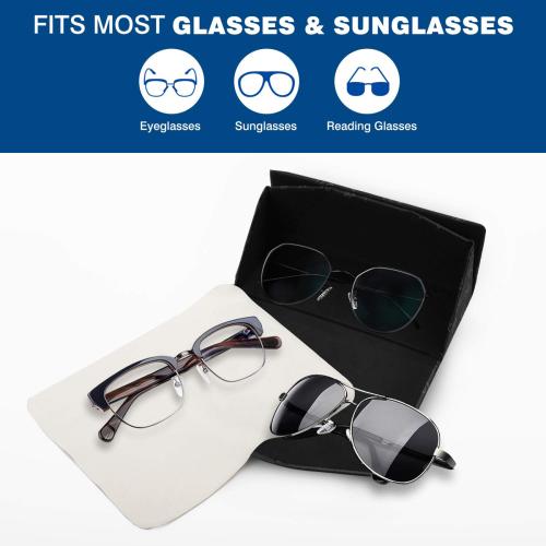 Mud-di Signature Upsidedown Black Custom Foldable Glasses Case