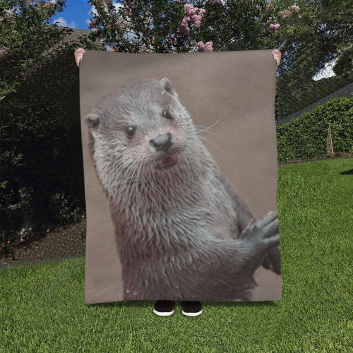 """sweet young otter Quilt 40""""x50"""""""