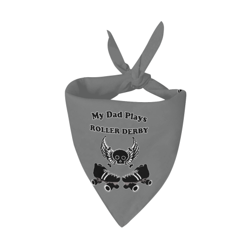 My Dad Plays Roller Derby Pet Dog Bandana/Large Size
