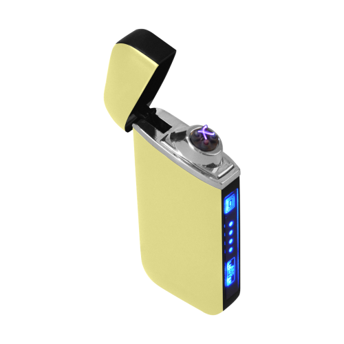 color khaki Curved Edge USB Lighter (Lateral Button)