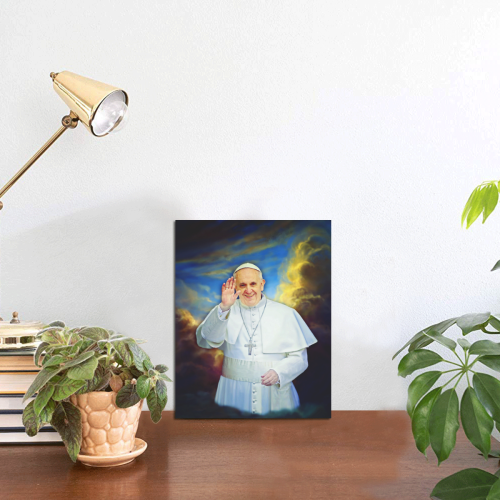 "Pope Francis Photo Panel for Tabletop Display 6""x8"""