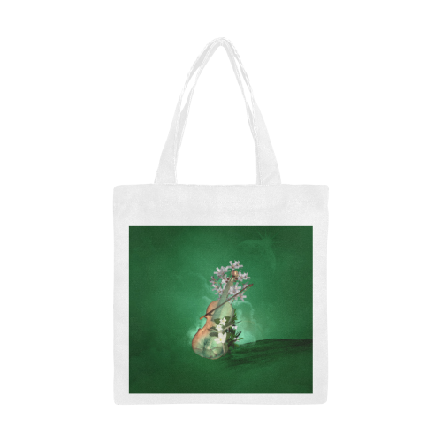 Violin with flowers Canvas Tote Bag/Small (Model 1700)