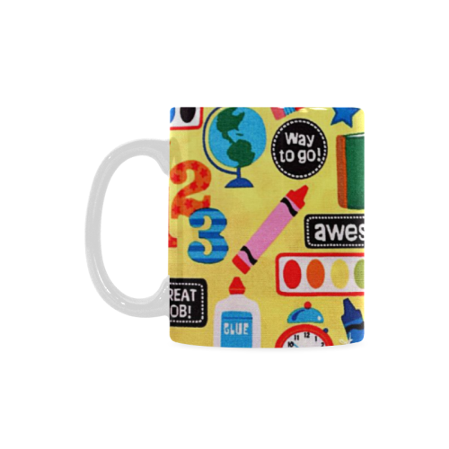 Coffee Cup Mug Great Kid Awesome School Teacher Custom White Mug (11oz)