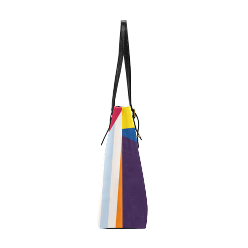 Retro Geometric Abstract (4) Euramerican Tote Bag/Small (Model 1655)