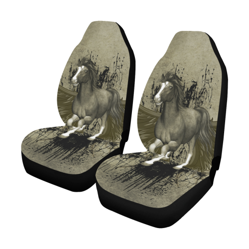 Wild horse with wings Car Seat Covers (Set of 2)