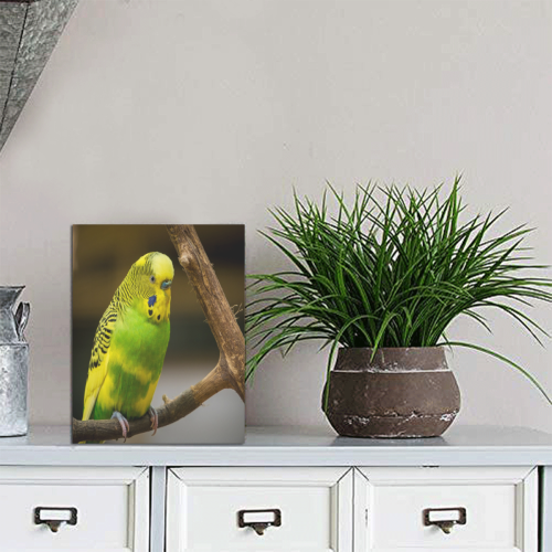 "Pretty Parakeet Photo Panel for Tabletop Display 6""x8"""