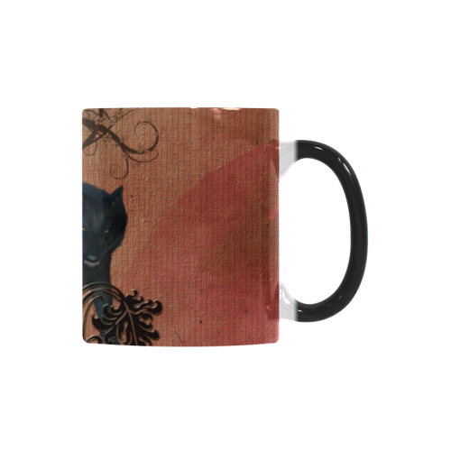 Awesome black and white wolf Custom Morphing Mug (11oz)