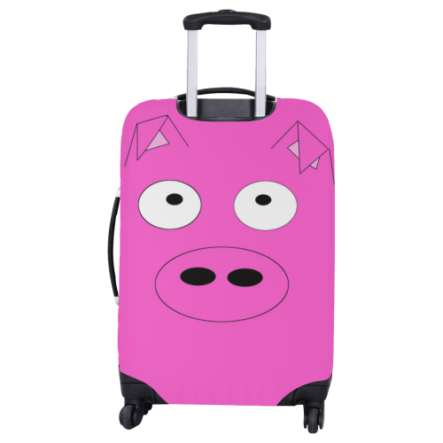 """Pink Pig Luggage Cover/Large 26""""-28"""""""