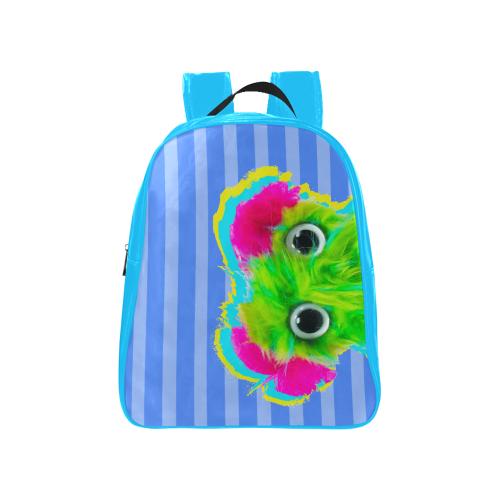 Stripes_BP School Backpack (Model 1601)(Medium)