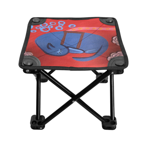 my dog sleeping Folding Fishing Stool