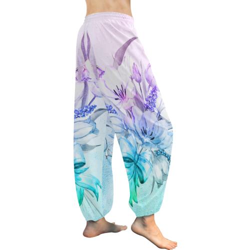 Wonderful flowers in soft watercolors Women's All Over Print Harem Pants (Model L18)