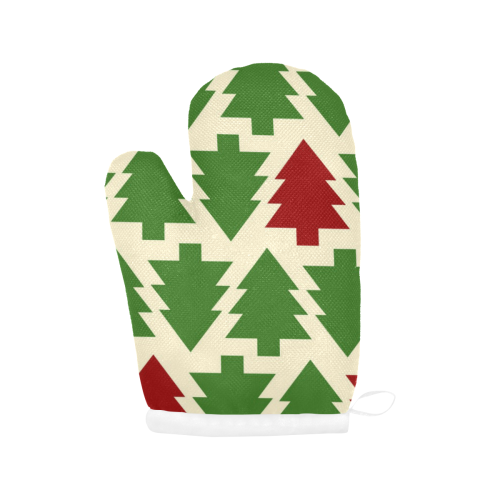 Christmas Tree Oven Mits Oven Mitt (Two Pieces)