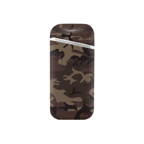 Camo Red Brown Curved Edge USB Lighter (Lateral Button)