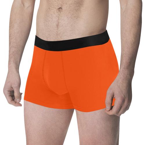 color orange red Men's All Over Print Boxer Briefs (Model L34)