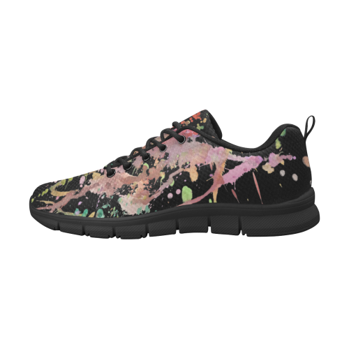 WATERCOLOR SPLASHES Women's Breathable Running Shoes (Model 055)