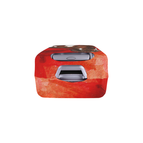 """Wild horse on red background Luggage Cover/Medium 22""""-25"""""""