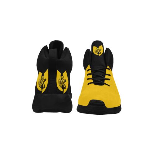 Wu-Tang's DJ W.I.Z Yellow On Black Men's Chukka Training Shoes Men's Chukka Training Shoes (Model 57502)