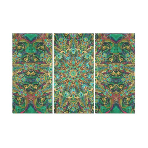 mandala spring 11 Canvas Wall Art X (3 pieces)