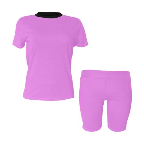 color violet Women's Short Yoga Set (Sets 03)