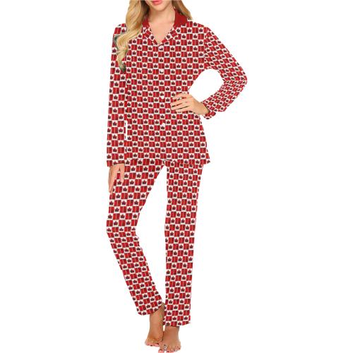 Canada Flag Sleepwear / Loungewear Women's Long Pajama Set (Sets 02)