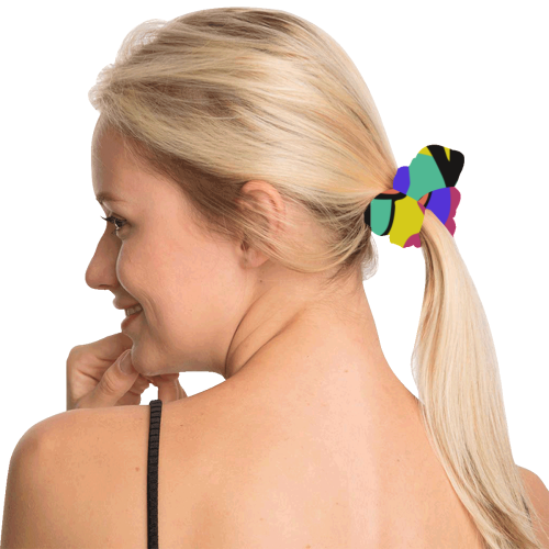 Color Pop Scrunchy_hair All Over Print Hair Scrunchie