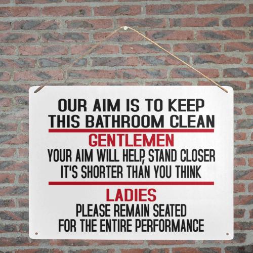 """Keepbathroomclean Metal Tin Sign 16""""x12"""""""