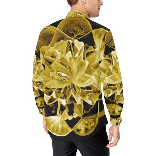 hamsa flower 8 Men's All Over Print Casual Dress Shirt (Model T61)