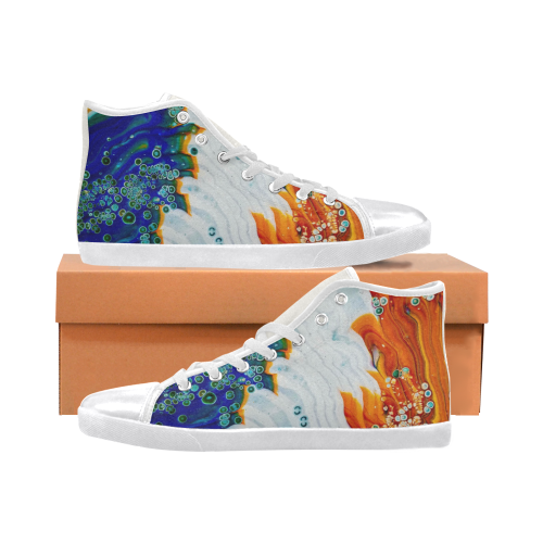 song of fire & ice high top Women's High Top Canvas Shoes (Model 002)
