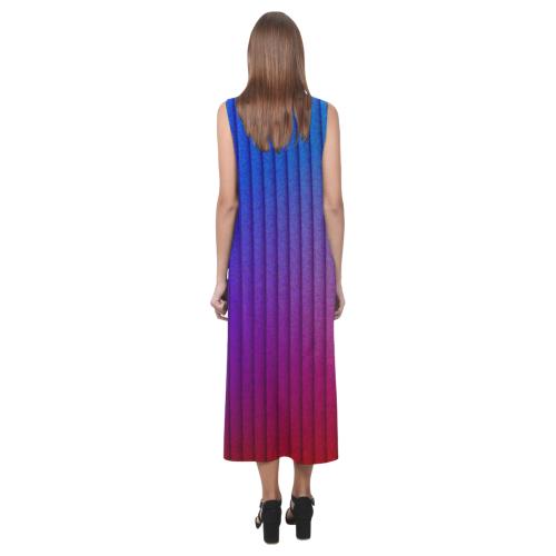 color gradient 06 Phaedra Sleeveless Open Fork Long Dress (Model D08)