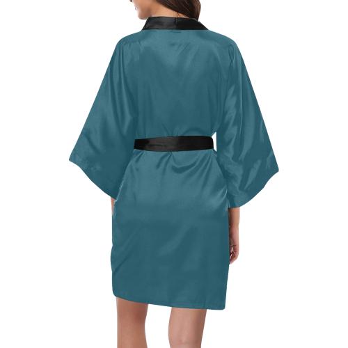 Blue Coral Kimono Robe