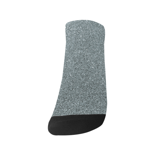 Silver Glitter Men's Ankle Socks