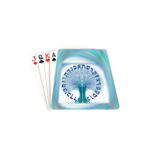 """ets haim  alphabet 4 Playing Cards 2.5""""x3.5"""""""