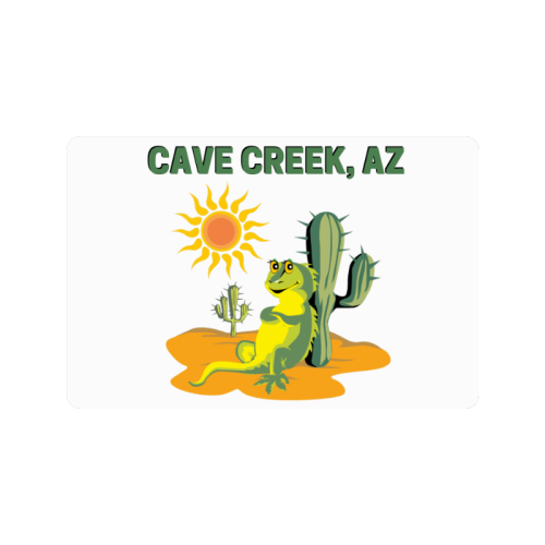 "Cave Creek, Arizona Doormat 24""x16"""